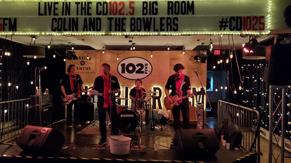 Colin and the band at the Big Room Bar