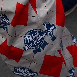 close up of PBR patterned pants at the non-profit Parker Lee Foundations's PBR 10K fundraising event